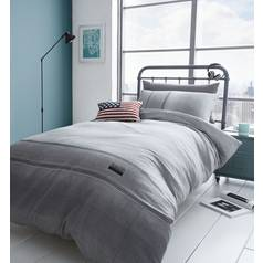 Catherine Lansfield Denim Grey Bedding Set – Single