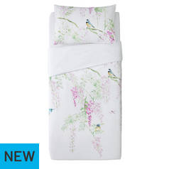 Argos Home Blue Tit Printed Bedding Set - Single