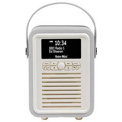 VQ Retro Mini DAB / FM Radio / Bluetooth Speaker - Grey