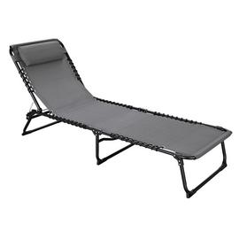 Argos Home Metal Set of 2 Sun Loungers - Grey
