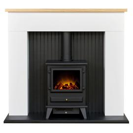 Adam Innsbruck Surround with Hudson 2kW Stove Suite - White