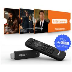 NOW TV Stick With 3 month Entertainment + 1 Day Sports Pass