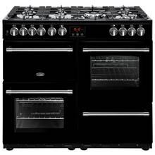 Belling Farmhouse 100DFT Dual Fuel Range Cooker - Black