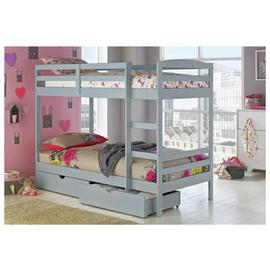 Argos Home Josie Grey Bunk Bed, Drawers & 2 Kids Mattresses