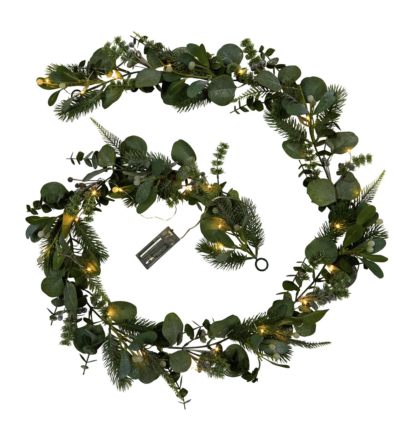 Argos Home Led Christmas Garland Winters Mist