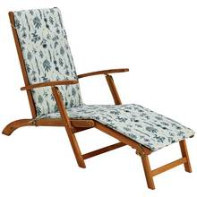 Argos Home Wooden Steamer Chair with Botanic Cushion