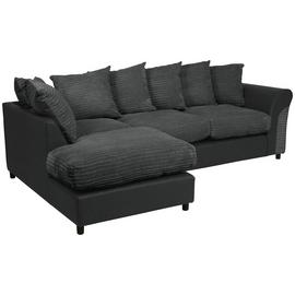 Argos Home Harry Large Left Corner Fabric Sofa - Charcoal