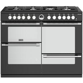Stoves Sterling S1100DF Dual Fuel Range Cooker - Black