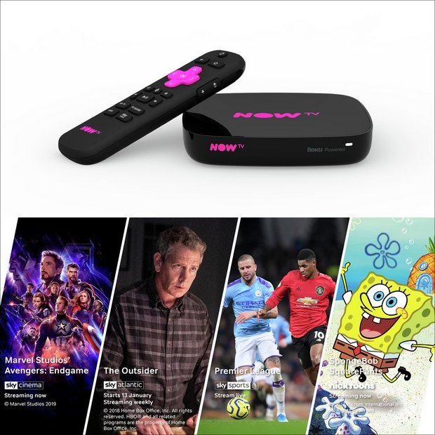 Buy NOW TV Smart Box with 4K and Voice Search   Smart TV boxes   Argos