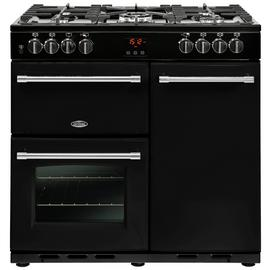Belling Farmhouse 90DFT Dual Fuel Range Cooker - Black