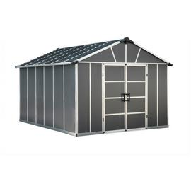 Palram Yukon Plastic 11x13ft Shed - Dark Grey