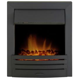 Adam Eclipse 2kW Electric Inset Fire - Black