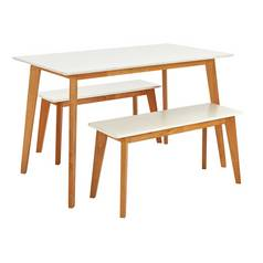 Argos Home Harlow Dining Table And Bench Set