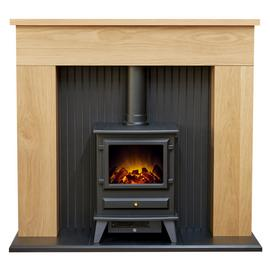 Adam Innsbruck Surround with Hudson 2kW Electric Suite - Oak