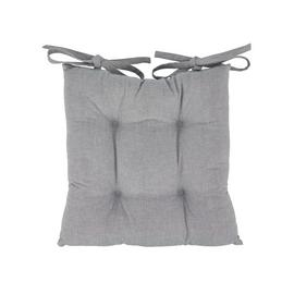 Argos Home Grey Seat Pads - 2 Pack