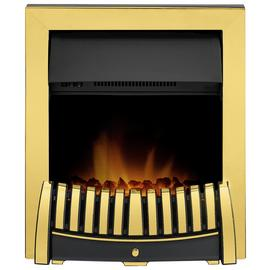 Adam Elise 2kW Electric Inset Fire - Brass