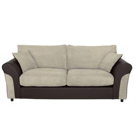Argos Home Harry 3 Seater Fabric Sofa - Natural