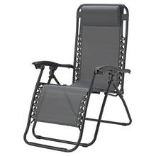 Argos Home Metal Set of 2 Sun Lounger Chairs - Grey