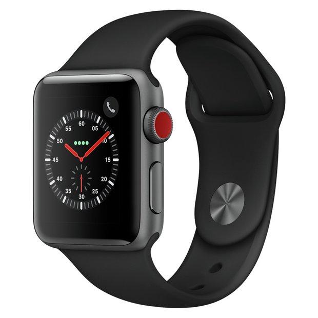 42mm Space Grey Apple Watch S3 in RG1