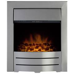 Adam Colorado 2kW Electric Inset Fire - Brushed Steel