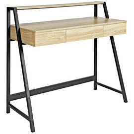 Argos Home Desk with Shelf - Oak Effect