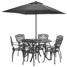 Argos Home Kensington Cast Aluminium Dining Set - Black