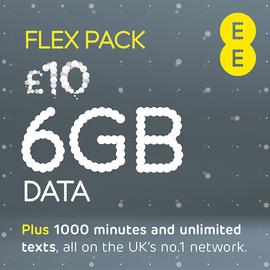 EE Flex Pay As You Go 30 Day Plan SIM Card