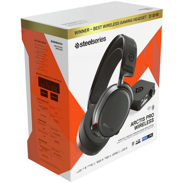 0d98e7ad245 Buy SteelSeries Arctis Pro Wireless PS4 Headset - Black | Gaming ...