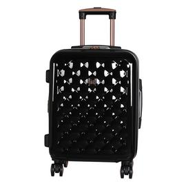 IT Luggage Expandable 8 Wheel Hard Cabin Suitcase - Black
