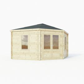 Mercia Wooden 20 x 16ft Single Glazed Window Cabin