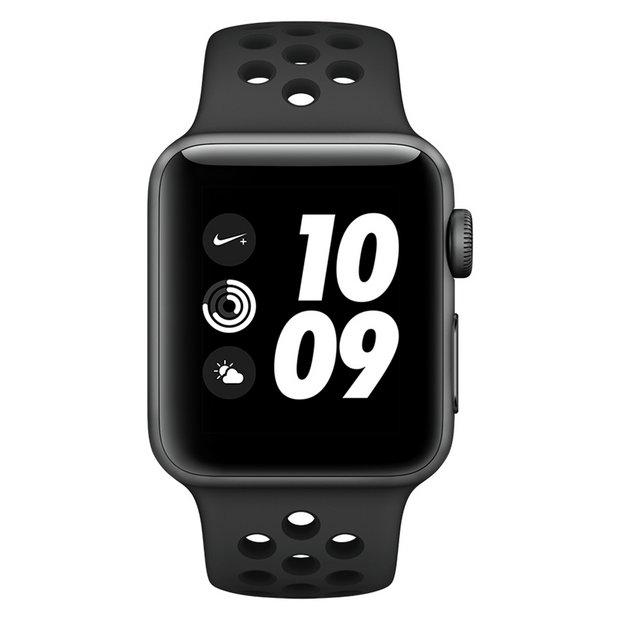 Ilegible alma Desafortunadamente  Buy Apple Watch Nike+ S3 2018 GPS 38mm - Grey Alu / Black Band   Fitness  and activity trackers   Argos