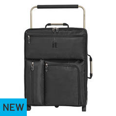 bf880b218dd6b IT Luggage World s Lightest Max Size Cabin Suitcase - Black