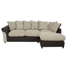 Argos Home Harry Large Right Corner Fabric Sofa - Natural