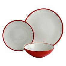 Argos Home 12 Piece Two-Tone Dinner Set - Red