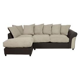 Argos Home Harry Large Left Corner Fabric Sofa - Natural