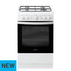 Indesit IS5G1KMW Gas Cooker - White