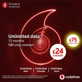 Vodafone 12 Month Contract Unlimited Data Lite 5G SIM Card
