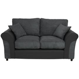 Argos Home Harry 2 Seater Fabric Sofa - Charcoal