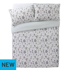 Argos Home Outline Floral Printed Bedding Set - Double