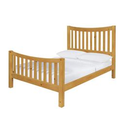 Argos Home Rowan Oak Stain Kingsize Bed Frame