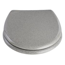 Argos Home Glitter Toilet Seat - Grey