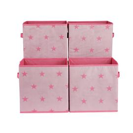 Argos Home Set of 4 Star Canvas Boxes
