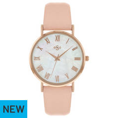 Spirit Rose Gold Pink Strap Watch