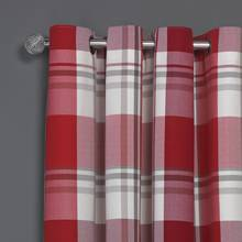Argos Home Woven Check Eyelet Curtain