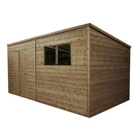 Mercia Wooden 14 x 6ft Shiplap Pressure Treated Pent Shed