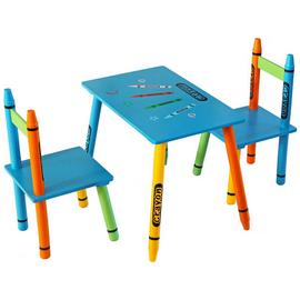 Kiddi Style Blue Crayon Table & Chair