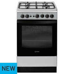 Indesit IS5G1PMSS Gas Cooker - Stainless Steel