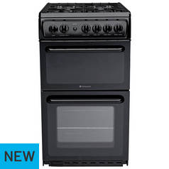 Hotpoint HD5G00KCB Gas Cooker - Black