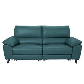 Argos Home Elliot 3 Seater Leather Mix Recliner Sofa - Teal
