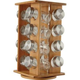 Argos Home Bamboo Revolving Spice Rack with 16 Jars